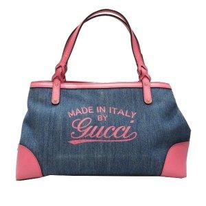 Gucci Denim Craft Tote Bag