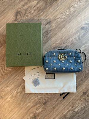 Gucci Mini sac bleu-beige clair