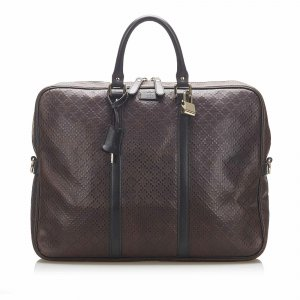 Gucci Business Bag dark brown polyvinyl chloride