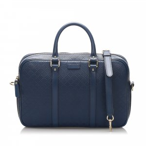 Gucci Business Bag blue leather