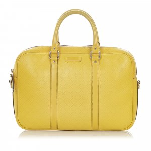 Gucci Business Bag yellow leather