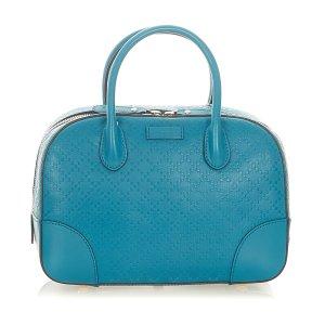 Gucci Diamante Bright Leather Satchel