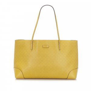 Gucci Bolso de compra amarillo Cuero