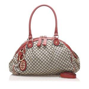 Gucci Diamante Canvas Sukey Satchel