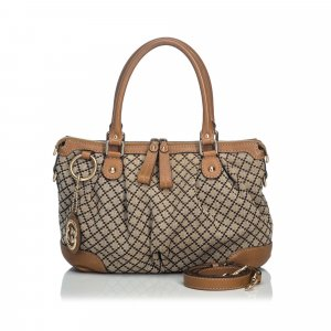 Gucci Diamante Canvas Sukey Satchel