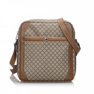 Gucci Diamante Coated Canvas Crossbody Bag