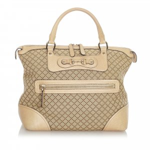 Gucci Diamante Horsebit Catherine Canvas Tote Bag