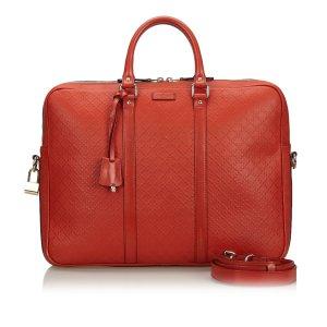 Gucci borsa ventiquattrore rosso Pelle