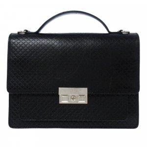 Gucci Serviette noir cuir