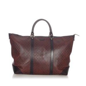 Gucci Diamante Leather Tote Bag