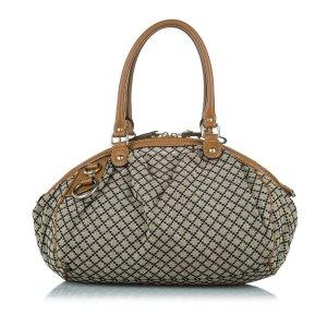 Gucci Diamante Sukey Canvas Handbag