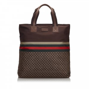 Gucci Diamante Web Nylon Tote Bag