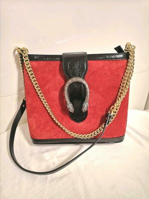 GUCCI DIONYSUS BUCKET BAG SUEDE/SAMT MEDIUM CROSSBODY HANDBAG