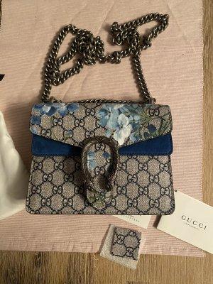 Gucci Bolsa de hombro azul-marrón grisáceo