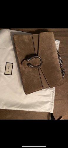 Gucci Sac porté épaule marron clair daim