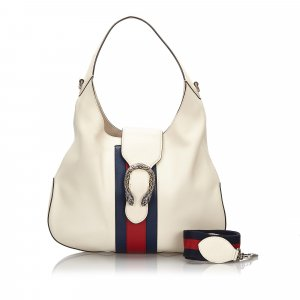 Gucci Dionysus Web Leather Hobo