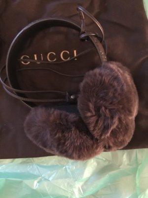 Gucci Oorwarmers donkerbruin Leer