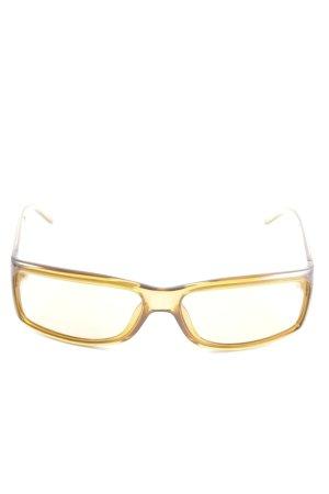 Gucci Occhiale da sole spigoloso giallo pallido stile casual