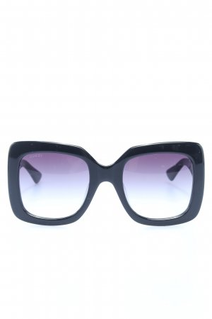 Gucci eckige Sonnenbrille schwarz Motivdruck Casual-Look
