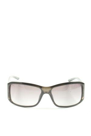 Gucci eckige Sonnenbrille schwarz-wollweiß Casual-Look