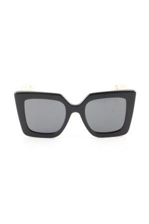 Gucci Hoekige zonnebril zwart elegant