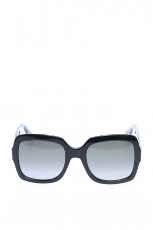 Gucci Angular Shaped Sunglasses black-gold-colored casual look