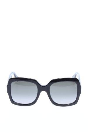 Gucci Hoekige zonnebril zwart-goud casual uitstraling
