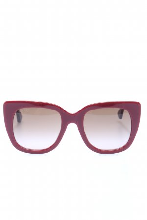Gucci eckige Sonnenbrille pink Casual-Look