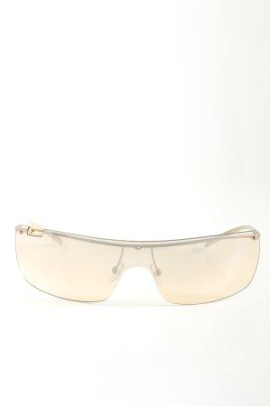 Gucci Hoekige zonnebril goud-roze casual uitstraling