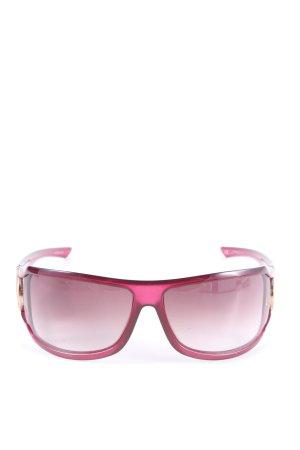 Gucci Gafas de sol cuadradas rosa-color oro look casual
