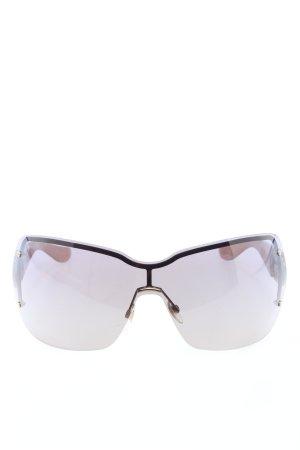 Gucci Hoekige zonnebril nude-bruin extravagante stijl