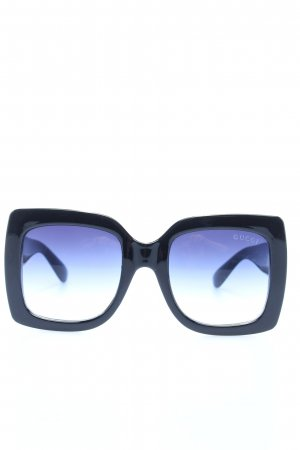 Gucci Gafas de sol cuadradas negro-azul degradado de color look casual
