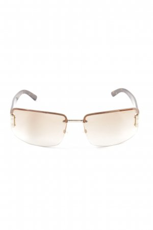 Gucci eckige Sonnenbrille braun-hellorange Leomuster Casual-Look