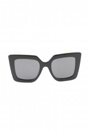 Gucci Angular Shaped Sunglasses black-gold-colored business style