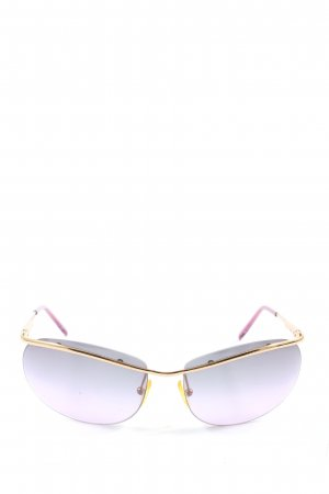 Gucci Retro Glasses gold-colored-pink casual look