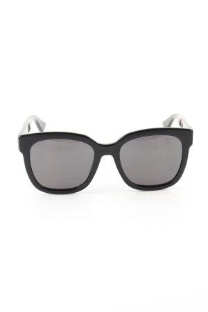 Gucci Lunettes de soleil angulaires noir style d'affaires