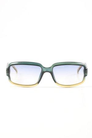 Gucci eckige Sonnenbrille grün-blassgelb Farbverlauf Casual-Look