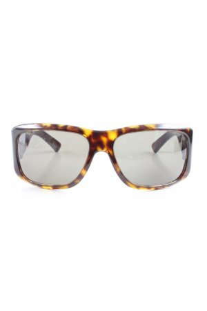 Gucci eckige Sonnenbrille schwarz-hellorange abstraktes Muster Elegant