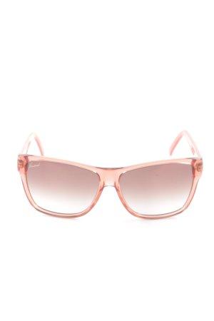 Gucci Lunettes de soleil angulaires rose style décontracté