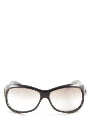 Gucci eckige Sonnenbrille schwarz Business-Look