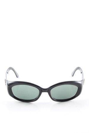 Gucci Occhiale da sole spigoloso nero-cachi stile casual