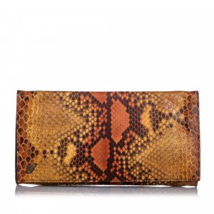 Gucci Embossed Leather Clutch Bag