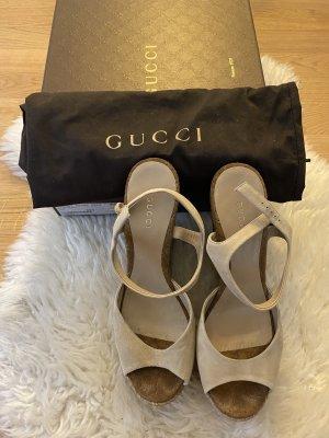 Gucci Espadrille Gr. 39,5 - Veloursleder Bege