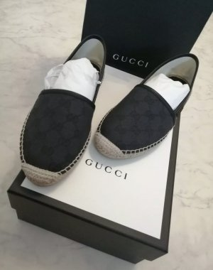 Gucci Espadrille sandalen zwart