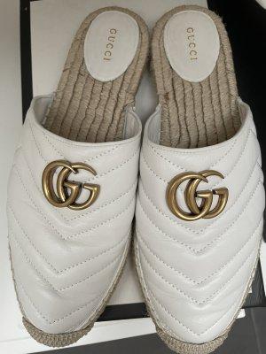 Gucci Espadrille blanc-doré