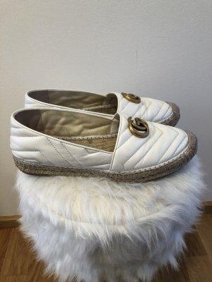 Gucci Slip-on blanc-doré