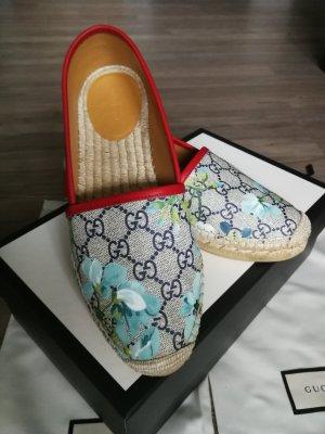 Gucci Espadrille rouge-bleu foncé