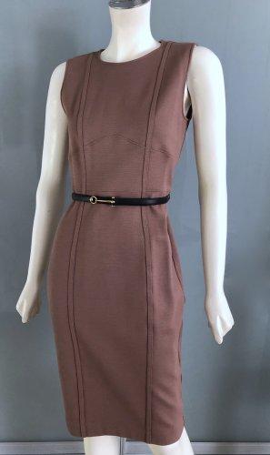 Gucci Vestido ceñido de tubo marrón-coñac