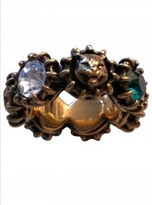 Gucci Bague incrustée de pierres multicolore