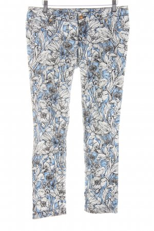 Gucci Five-Pocket Trousers blue-white allover print casual look